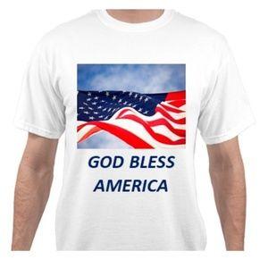 GOD BLESS AMERICA WHITE